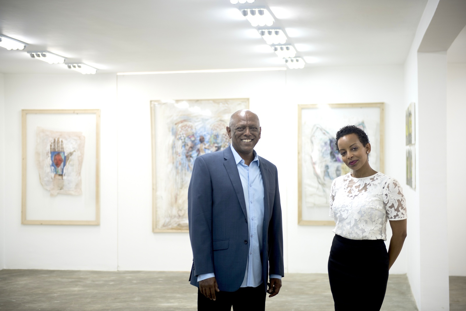 Addis Fine Art Founders Mesai Haileleul and Rakeb Sile.
