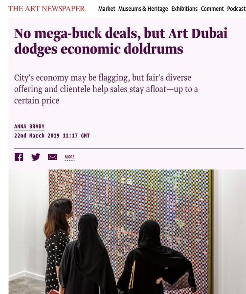 No mega-buck deals, but Art Dubai dodges economic doldrums