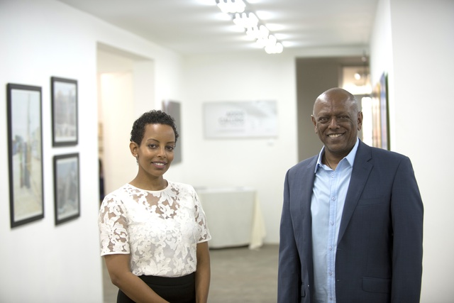 Addis Fine Art Founders Rakeb Sile and Mesai Haileleul. (C) Addis Fine Art